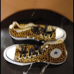 Converse Shoes - Leopard converse high tops